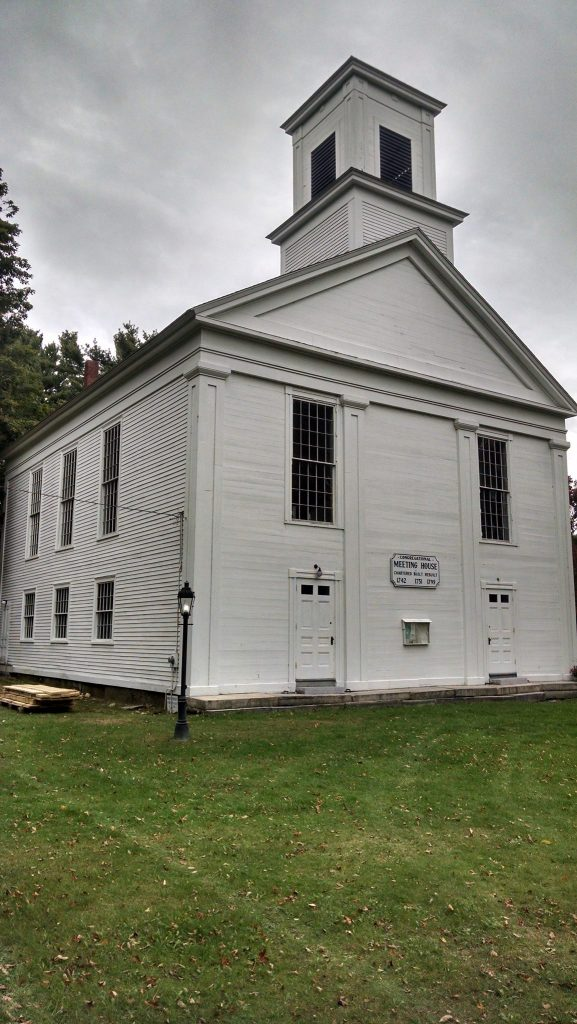 The Ware Meetinghouse, Ware, Massachusetts, 1799.