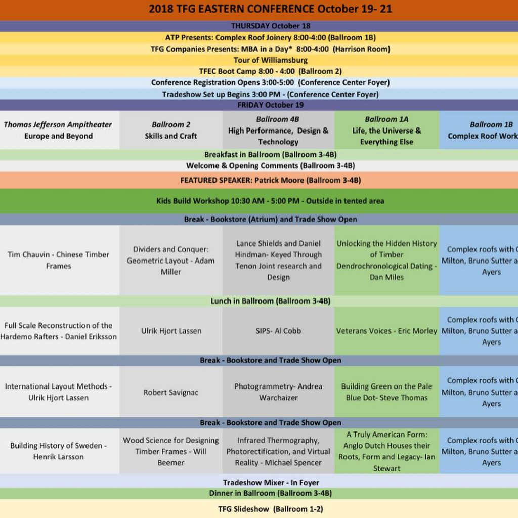 TTFG Conference Schedule image